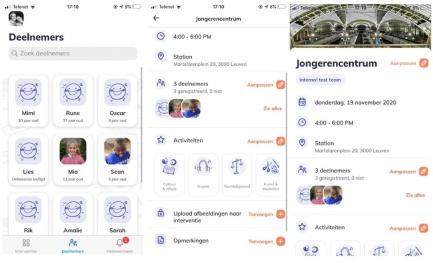 screenshots van StreetSmart App
